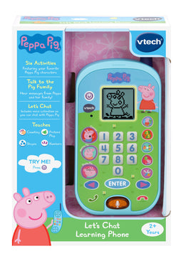 Vtech Peppa Pig Lets Chat Learning Phone - Toyworld