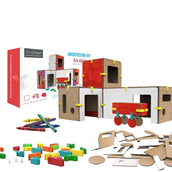 3Dux Design The Fire Station - Toyworld