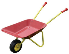 PLAYFUN METAL WHEELBARROW RED