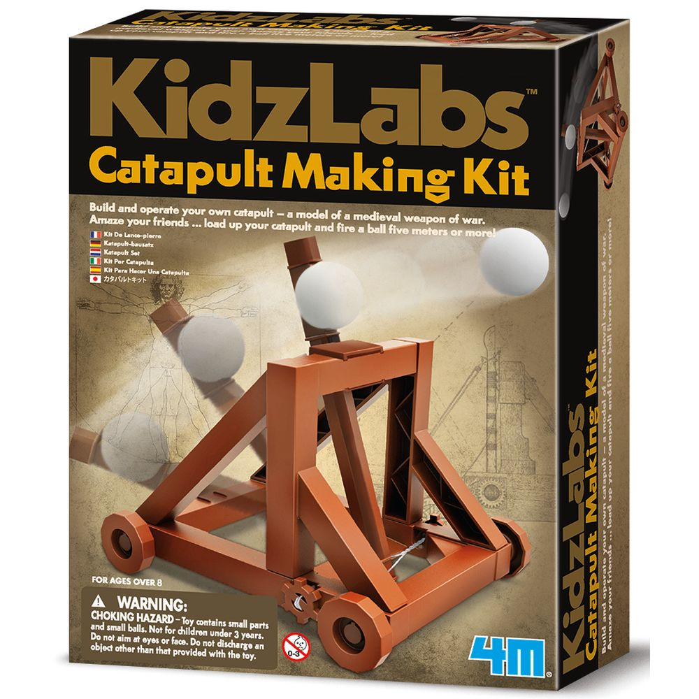 4M Kidz Labs Catapult Making Kit - Toyworld