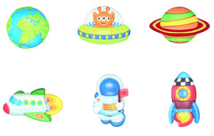 4M Mould Paint Glow In The Dark Space Img 1 - Toyworld