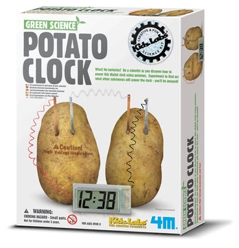 4M Science Green Potato Clock - Toyworld