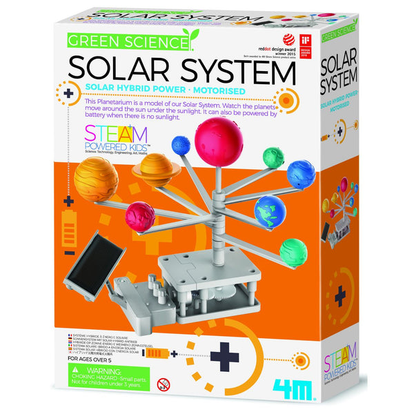 4M Green Science Motorised Solar System Solar Hybrid Power - Toyworld