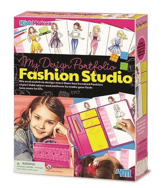 4M KIDZ MAKER MY DESIGN PORTFOLIO FASHION STUDIO