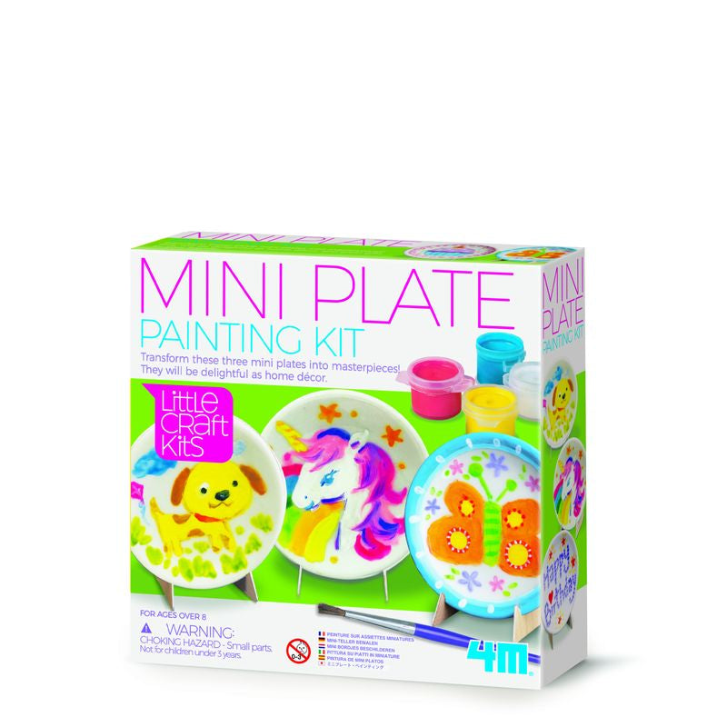 4M Little Craft Mini Plate Painting Kit - Toyworld