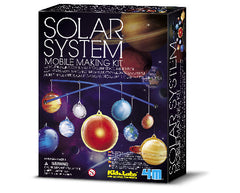 4M Science Kidz Labs Glow In The Dark Solar System Mobile Making Kit - Toyworld