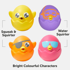 Tomy Hide & Squeak Bath Squirters Img 1 - Toyworld