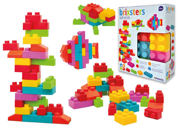 PLAY AND LEARN BRIXSTERS SOFT BRICKS