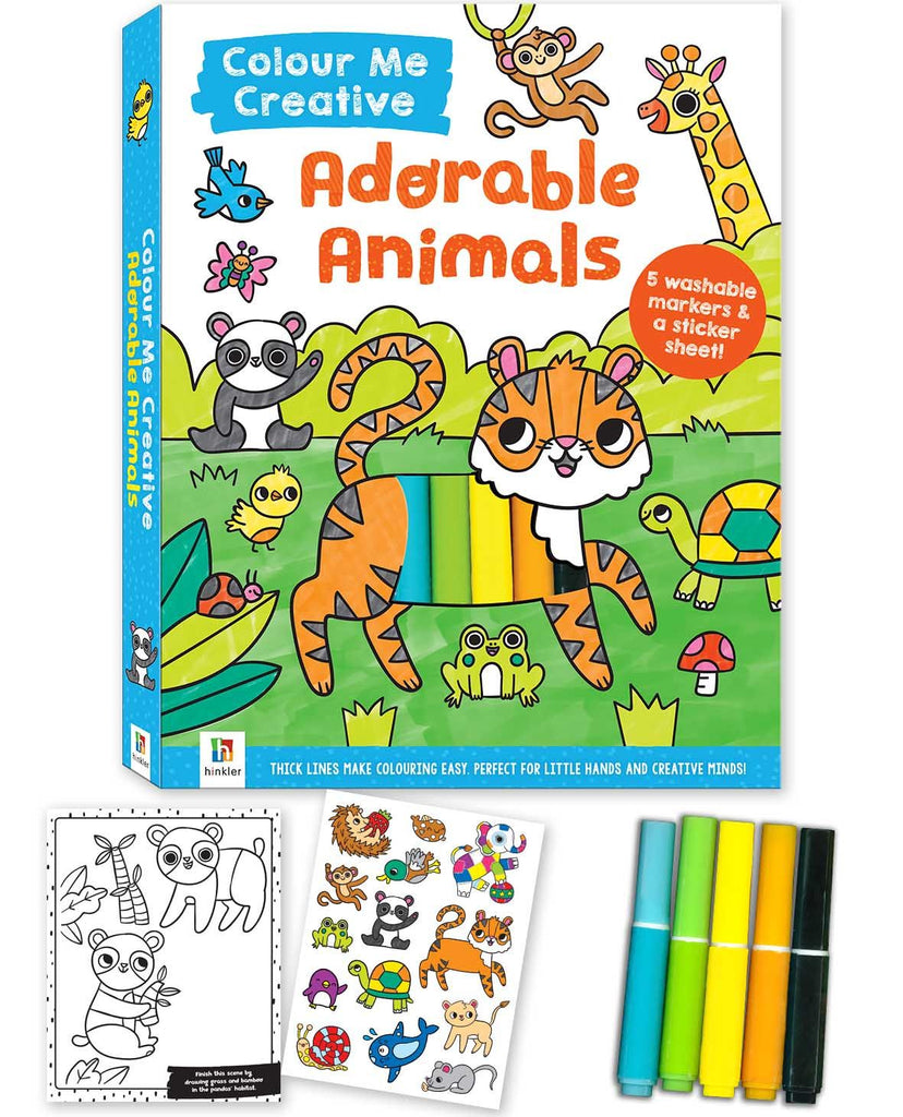 COLOUR ME CREATIVE KIDS COLOURING KITS ADORABLE ANIMALS