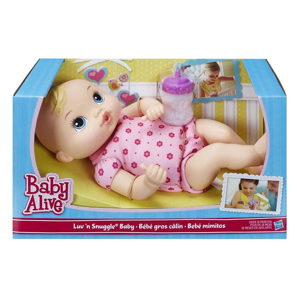 Baby Alive Snuggle Baby Asst Blonde - Toyworld