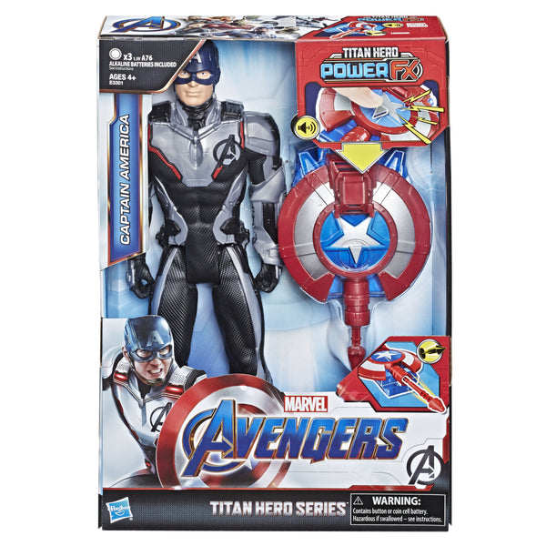 MARVEL AVENGERS TITAN HERO SERIES POWER FX CAPTAIN AMERICA