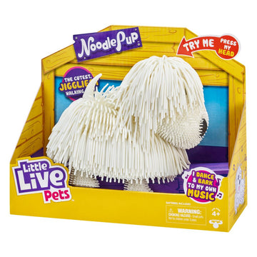 Little Live Pets Noodle Pup White - Toyworld