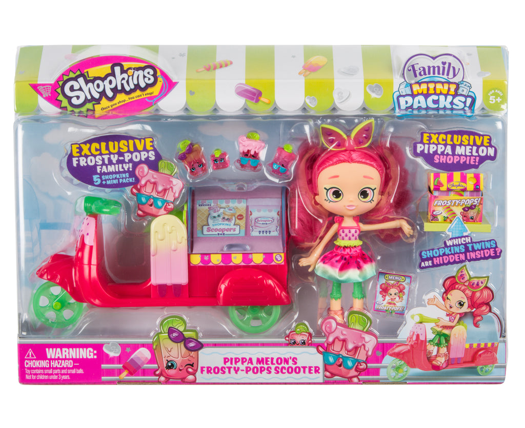 SHOPKINS SHOPPIES PIPPA MELONS FROSTY POPS SCOOTER