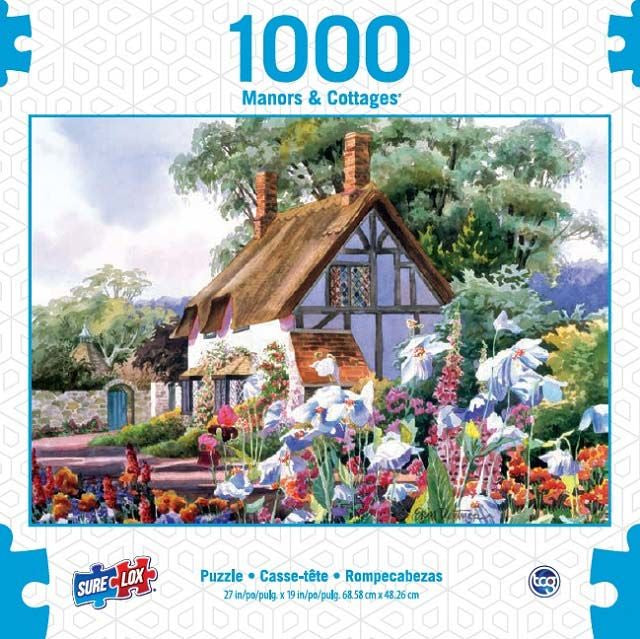 Surelox Manors & Cottages White Cottage 1000 Piece - Toyworld