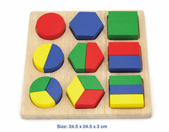 Viga Shape Block Puzzle - Toyworld