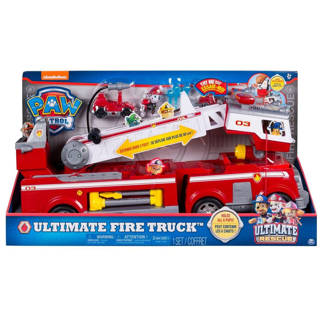 Paw Patrol Ultimate Rescue Fire Truck Playset - Toyworld