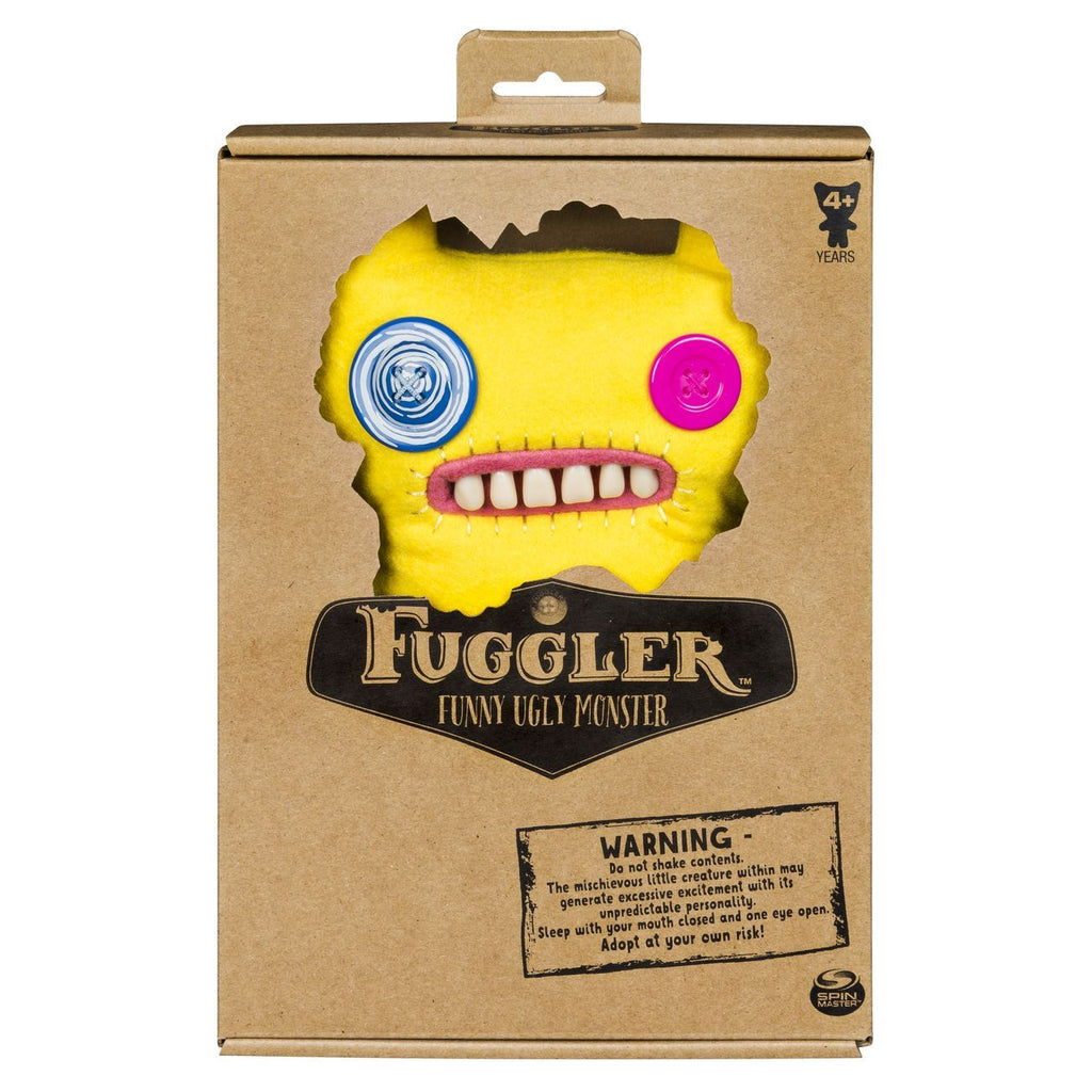Fuggler Medium Plush Monster Yellow - Toyworld