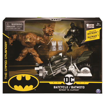 Batman Batcycle With Batman & Clay Face - Toyworld