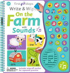 Wiipe Write On The Farm With 27 Sounds Book - Toyworld