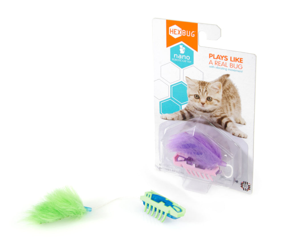 Hexbug Nano Cat Toy Green & White - Toyworld
