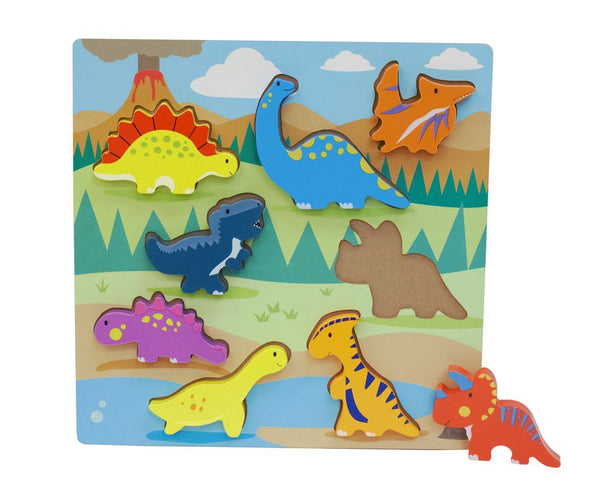 Wooden Chunky Puzzle Assorted Styles - Toyworld