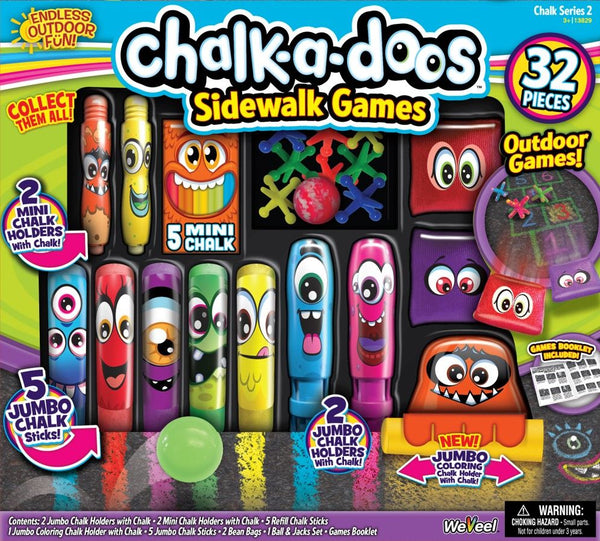 Chalk A Doos Sidewalk Games Set - Toyworld