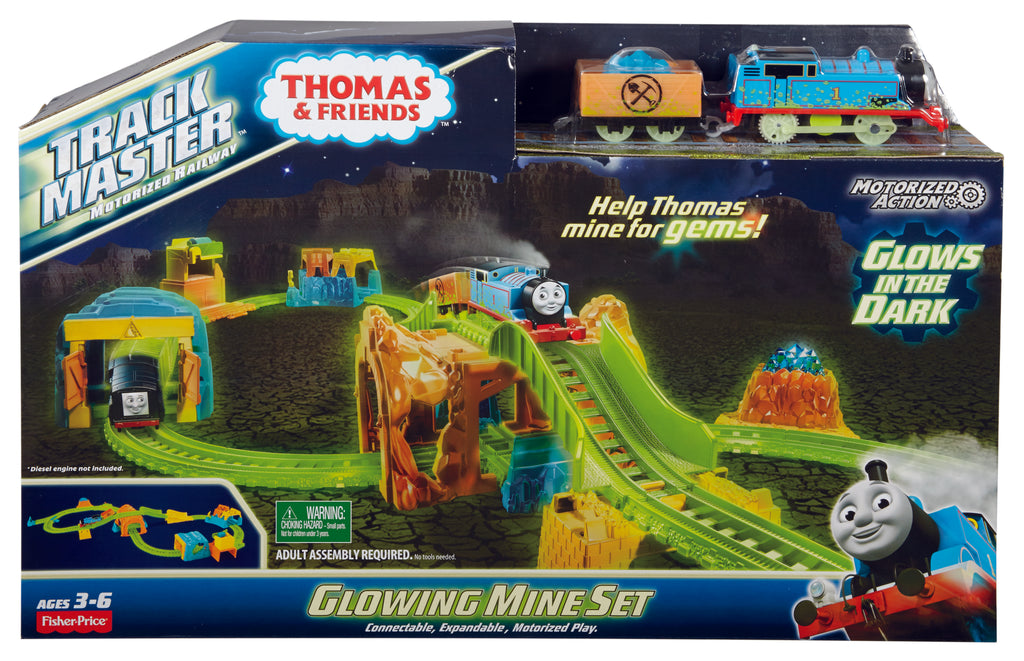 THOMAS AND FRIENDS TRACK MASTER GLOWING MINE SET