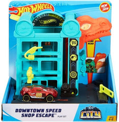 Hot Wheels City Downtown Speed Shop Escape - Toyworld