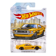 Hot Wheels Theme Automotive Vehicle Detroit Muscle 36 69 Ford Mustang Boss 302 - Toyworld