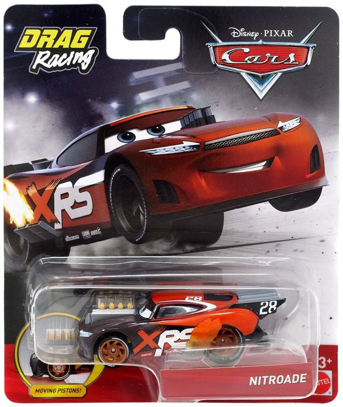 Disney Pixar Cars Xrs Drag Racing Single Nitroade - Toyworld