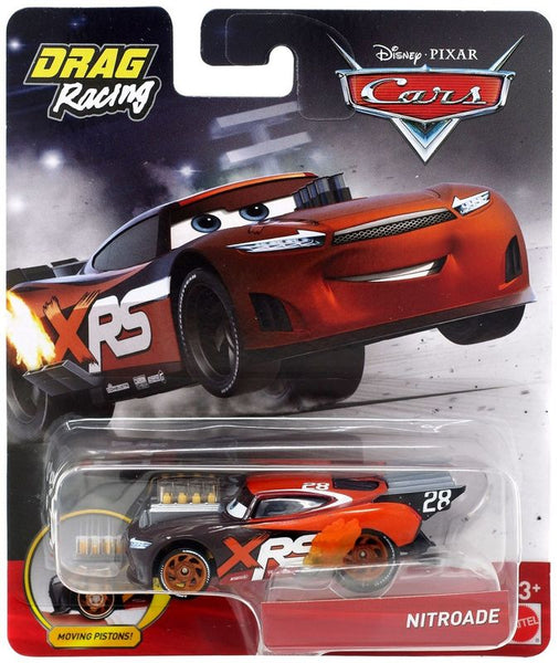 DISNEY PIXAR CARS XRS DRAG RACING SINGLE NITROADE