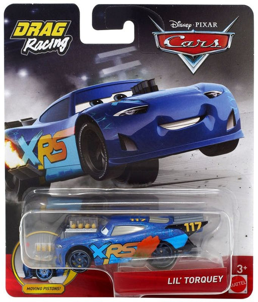 DISNEY PIXAR CARS XRS DRAG RACING SINGLE LIL' TORQUEY