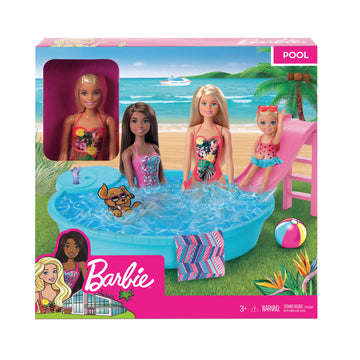 Barbie Estate Pool With Doll - Toyworld
