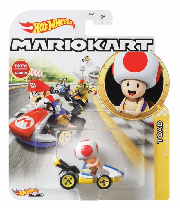 HOT WHEELS MARIO KART TOAD