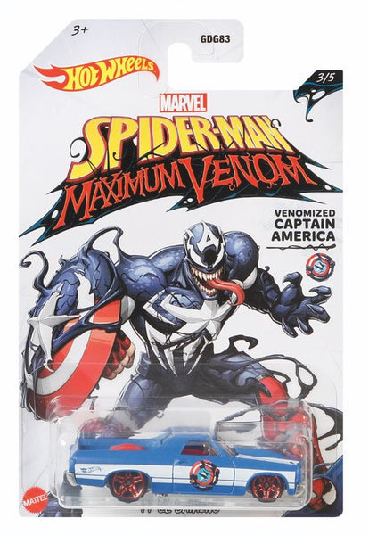 Hot Wheels Marvel Spiderman Maximum Venom Venomized Captain America - Toyworld