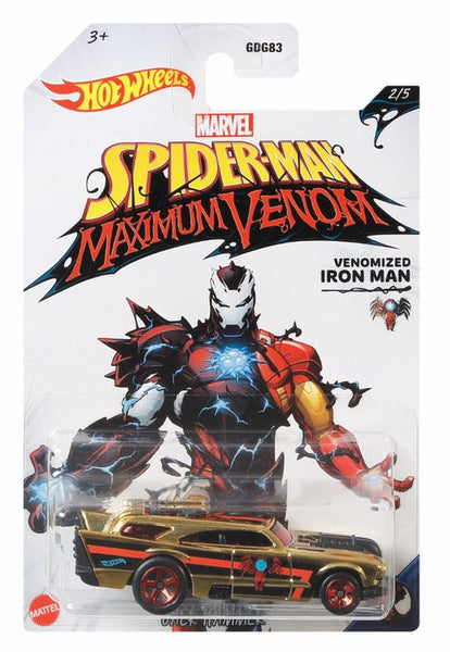 Hot Wheels Marvel Spiderman Maximum Venom Venomized Iron Man - Toyworld