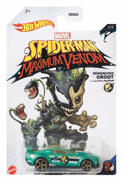 Hot Wheels Marvel Spiderman Maximum Venom Venomized Groot - Toyworld