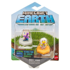 Minecraft Smart Mini Fig 2-Pack Attacking Steve & Spawning Duck - Toyworld