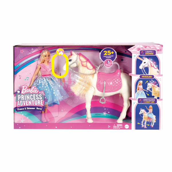 BARBIE PRINCESS ADVENTURE PRANCE AND SHIMMER HORSE