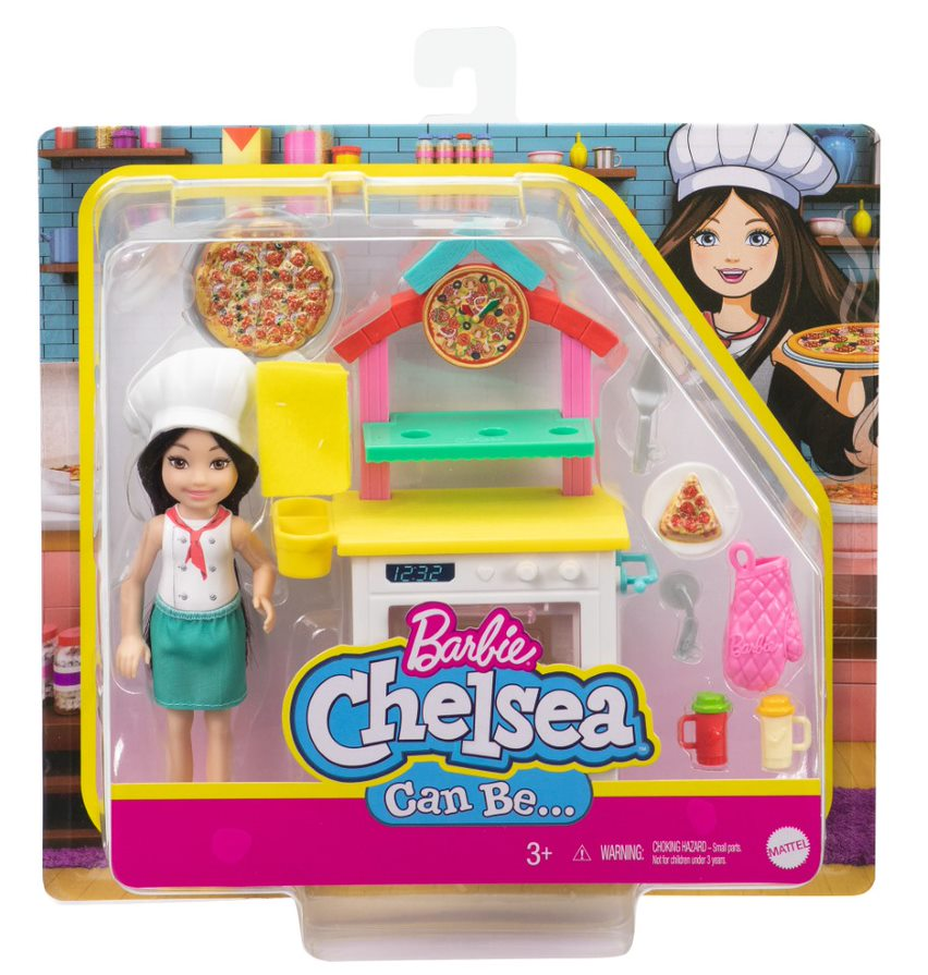 Barbie Chelsea Can Be A Pizza Chef Playset - Toyworld
