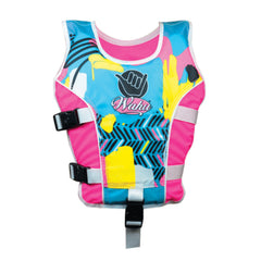 WAHU SWIM VEST CHILD LARGE 25-50KG PINK AND YELLOW