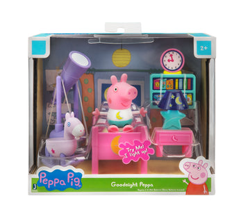 Peppa Pig Little Rooms Goodnight Peppa - Toyworld