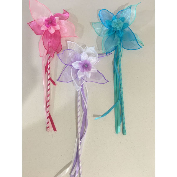 FAIRY GIRLS ROSE WAND ASSORTED COLORS