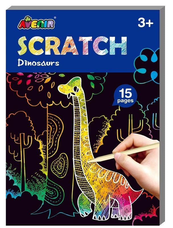 AVENIR MINI SCRATCH BOOK DINOSAURS