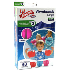WAHU ARM BANDS 1 TO 4 YEARS LARGE ASSORTED COLORS