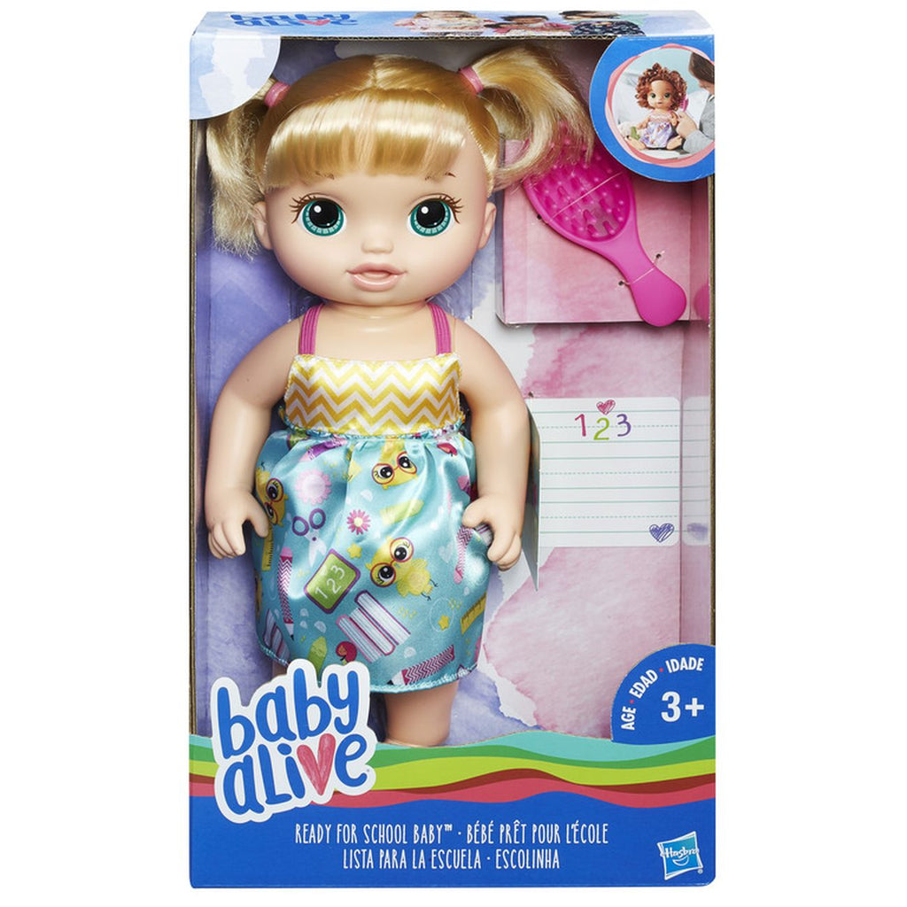 Baby Alive Ready For School Baby Blonde - Toyworld
