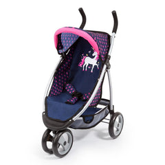 BAYER JOGGER DARK BLUE WITH PINK HEARTS AND UNICORN