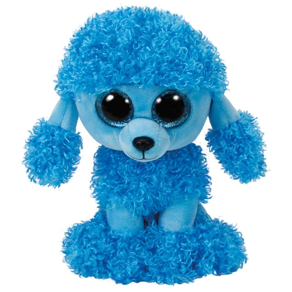 TY BEANIE BOO MEDIUM BLUE POODLE MANDY