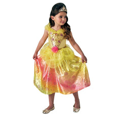Belle Rainbow Deluxe Costume Size 6 To 8 - Toyworld