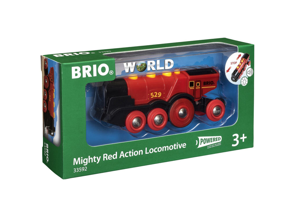 Brio Battery Operated Mighty Red Action Locomotive - Toyworld
